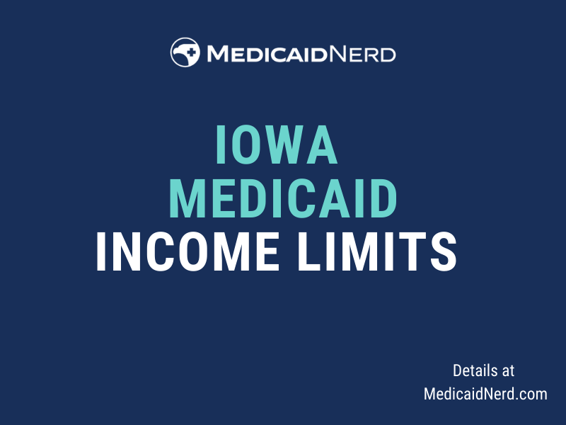 """""""What are the income limits for Medicaid in Iowa?"""""""